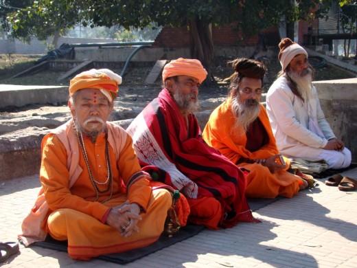 Four sadhus