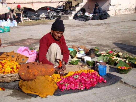 The flower sellar