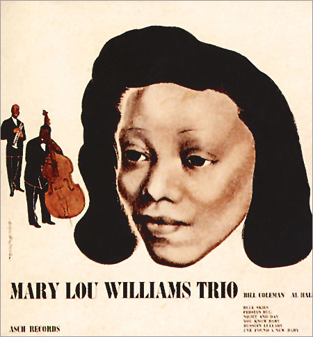 The very first record cover DSM designed. For a 78rpm album of his friend Mary Lou Williams and her trio, 1944