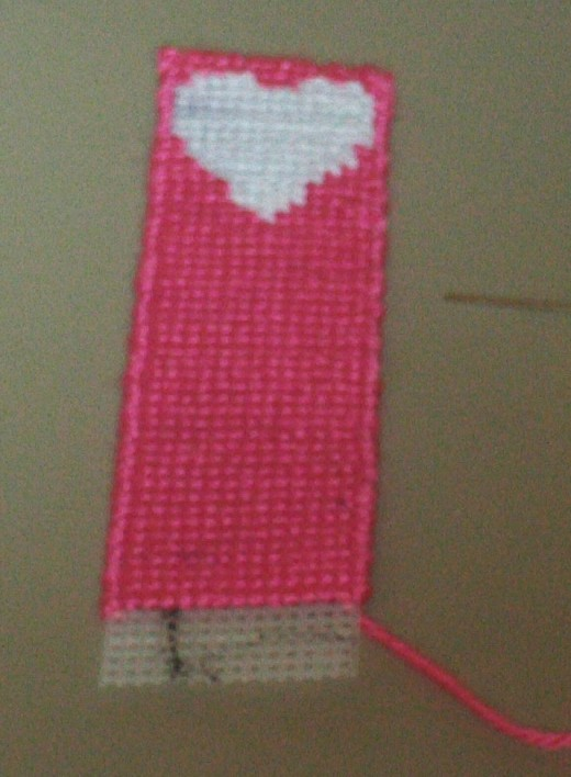 Here the bookmark is almost completed.