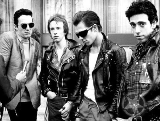 The Clash are: Joe Strummer, Topper Headon, Paul Simonon and Mick Jones.