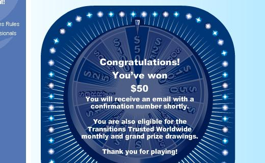 A $50 instant win is not bad either.