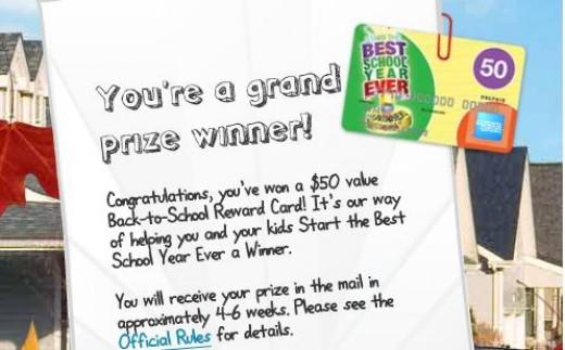 $50 Kraft instant win