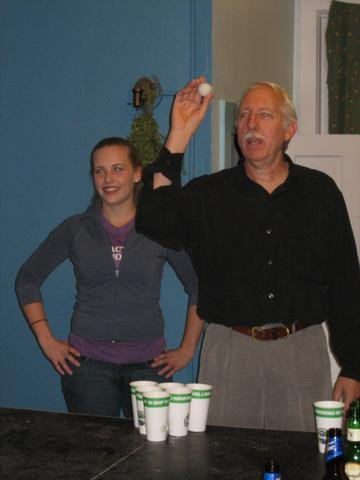 DrTom and Valerie were unbeatable at beer pong, until THOSE guys came along