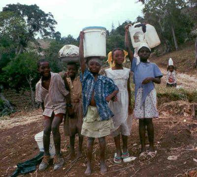 Children waiting for help