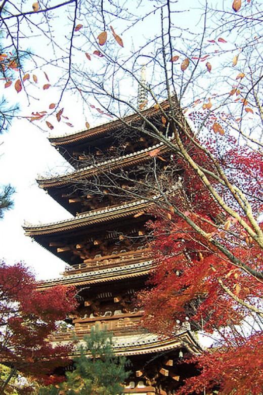 Ninnaji Pagoda, Kyoto Japan