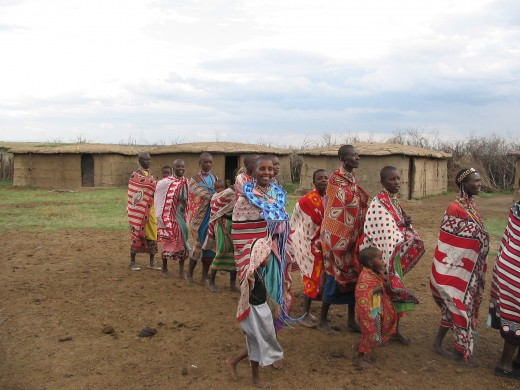 Maasai women in the village