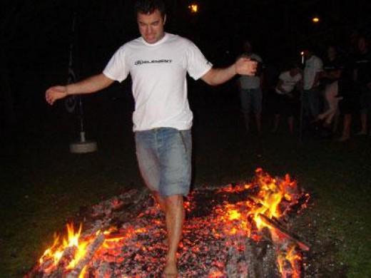 Photo from my fire-walking workshop in Colorado