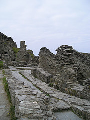 Part of the castle ruins at Tintagel