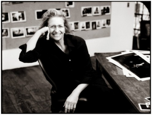 Renowned photographer Annie Leibovitz in her studio