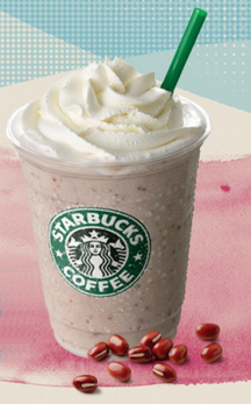 Starbucks Red Bean Frappuccino from Korea