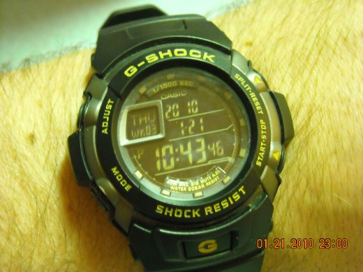 The Casio G-Shock Trainer, black