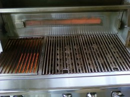 "Infrared and Convection Alfresoc gas grill is 42"" long.  Infrared gas grill burners will go over 100 0degrees within a inute"