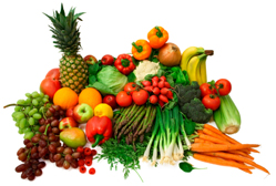 Fruits and vegetables      Picture from      http://www.hsph.harvard.edu/nutritionsource/what-should-you-eat/vegetables-full-story/index.html#cancer