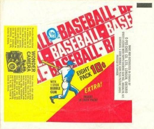 1970 OPC Baseball Wax Pack Wrapper