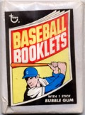 1970 Topps Baseball Booklets Wax Pack