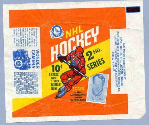 1970/71 OPC Hockey Series 2 Wax Pack Wrapper