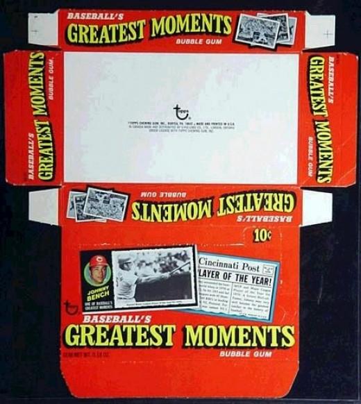1971 Topps Baseball's Greatest Moments