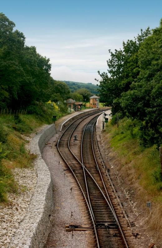 Railway track. Taken by Simon Howden FreeDigitalPhotos.net