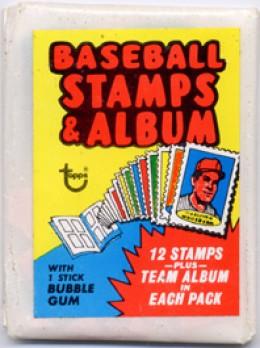 1974 Topps Baseball Stamps Pack