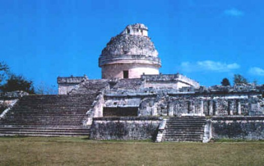 The infamous Observatory at Chichen Itza in Yucatan Mexico