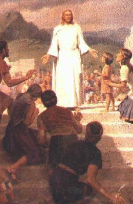 Jesus Christ Appears To The Nephites...