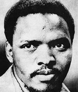Steven Bantu Biko, was assassinated by the Apartheid security forces, naked and handcuffed both feet and his hands handcuffed to his back