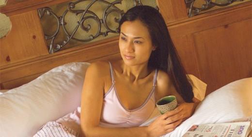woman relaxing weekend