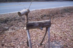 How to make log deer lawn ornaments from fallen trees