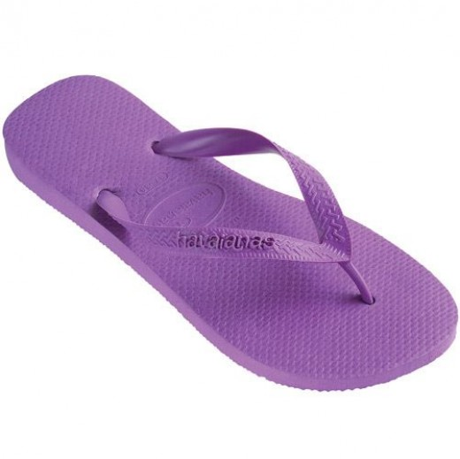 Purple funky flip flops on sale at discount prices!