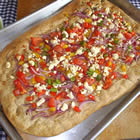 Pizza with Pepper, Onion and Feta (from Allrecipes)