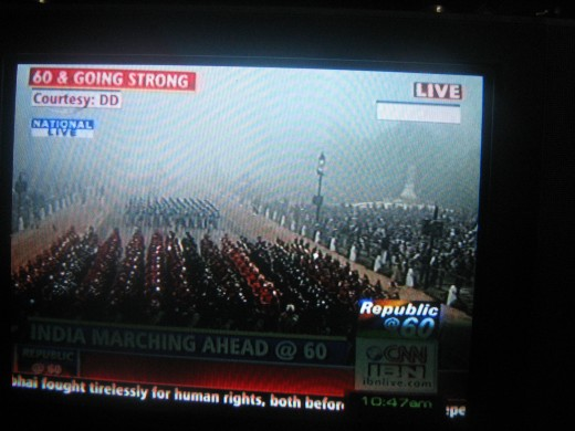 Live Republic Day Parade Real Pic in foggy conditions - January 26 2010.