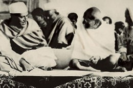 Mahatma Gandhi, The Father of Indian nation with Jaharlal Neheru, The First PM of India