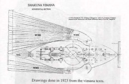 The Vaimanika Sastra (or Vymaanika-Shaastra) has eight chapters with diagrams, describing three types of aircraft, including apparatuses that could neither catch on fire nor break.