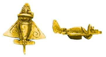 Although stratigraphy can be deceptive sometimes, scientists are pretty sure that these gold objects are at least 1000 years old.