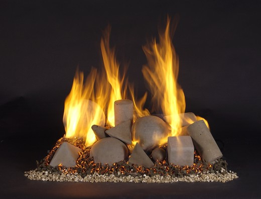 Ventless gas log fireplaces used to be unattractive and unrealistic.  Not only has the ventless gas log fireplace gotten much better at realistic fire logs with all the safety features but alternatives have evolved that do not try to look like a wood