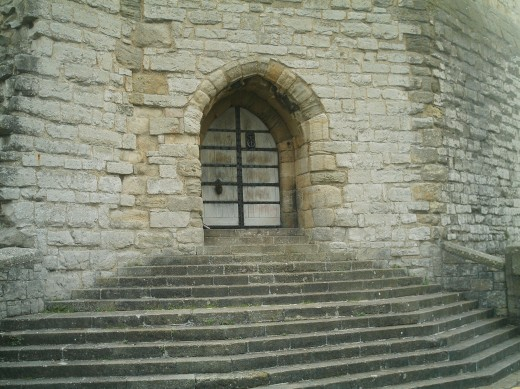 A doorway into Conway Castle