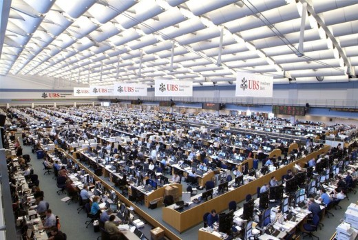 Modern Trading Floor - it looks interesting to be there until when you start losing your money