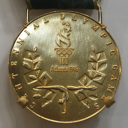 Gold medal from 1996 Olympics in Atlanta