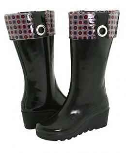 Stay dry in these super cute Sperry Top-Sider Sadie Wedge Rain Boots