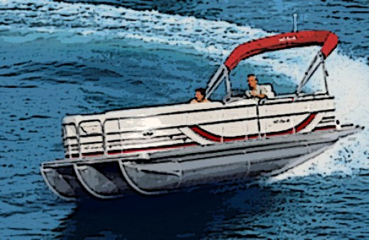 Pontoon boats, because of their high profile and vulnerability to wind, favor props that provide power and control over speed.