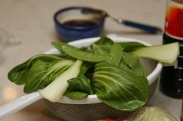 Bok choy & snow peas