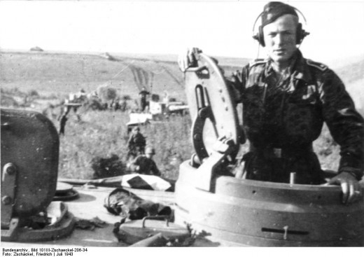 "One of the ""Tiger "" tanks of the Das Reichs 2nd Panzer division"