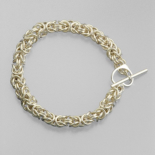 Byzantine style chain maille bracelet