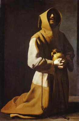 """FRANCIS OF ASSISI"" PAINTED  BY FRANCISCO DE ZURBARAN IN 1635"