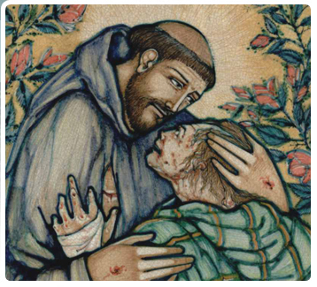 FRANCIS OF ASSISI COMFORTS A LEPER