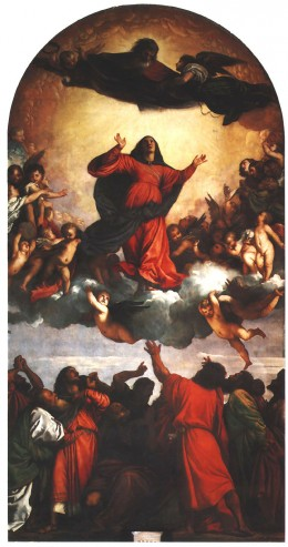 """THE ASSUMPTION OF MARY"" AS PAINTED BY TITIAN"