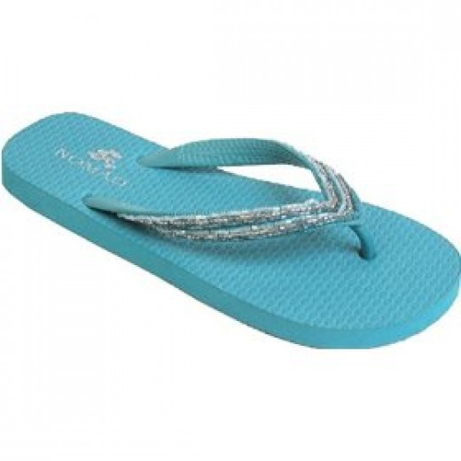 Turquoise flip flops are IN!