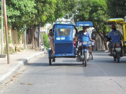 Tricycle mode of transportation in the area