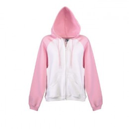 Women's hoodies often come in pink.
